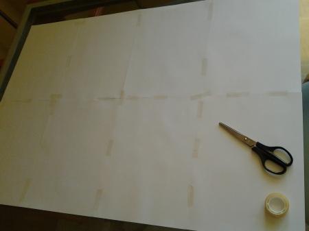 El papel sobre el que dibujamos la plantilla