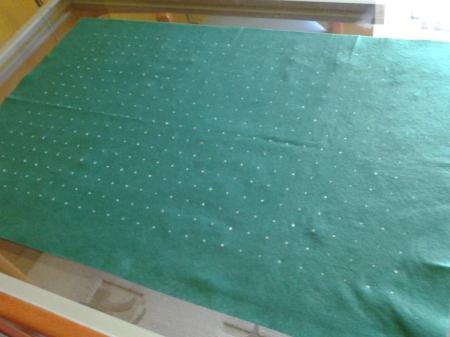 El tapete perfectamente marcado